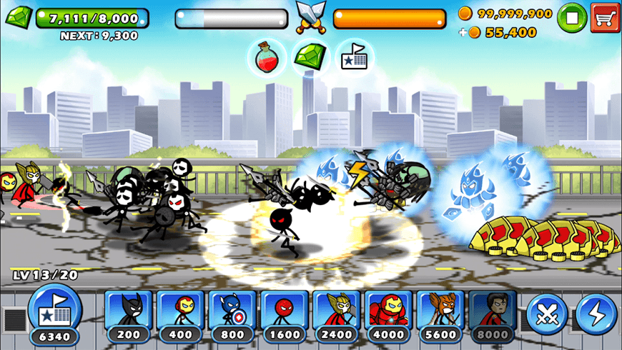 Chơi HERO WARS: Super Stickman Defense on PC 12