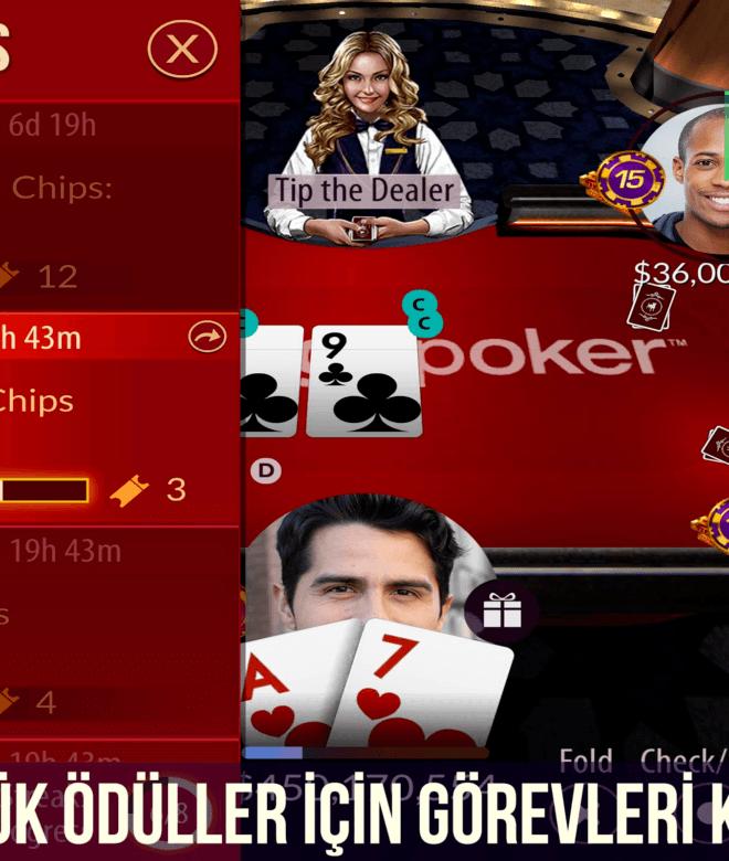Zynga Poker-Texas Holdem'i Emülatörle PC'de Oyna | BlueStacks