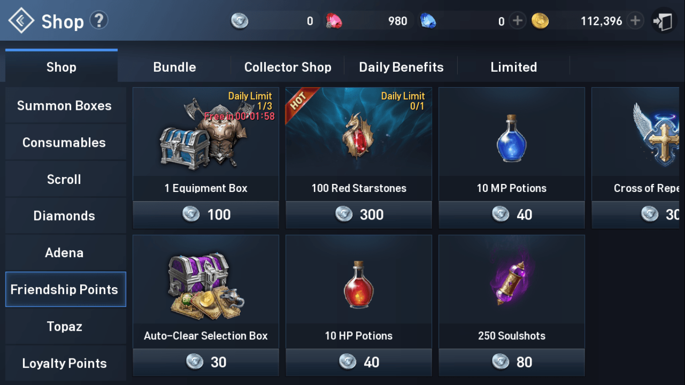 Lineage 2 Revolution Free Equipment