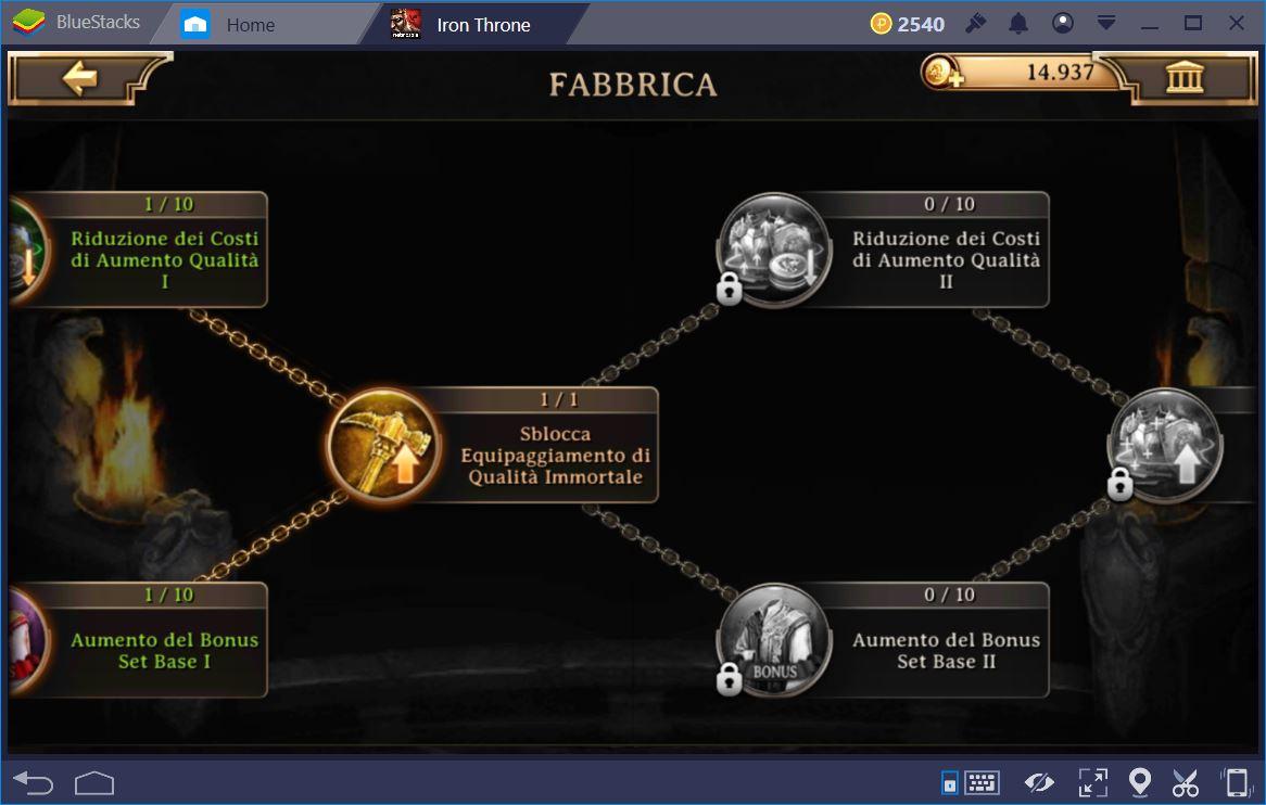 Iron Throne: Guida alle Ricerche e all'Equipaggiamento