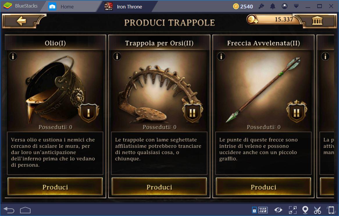 Iron Throne: Trucchi e Consigli