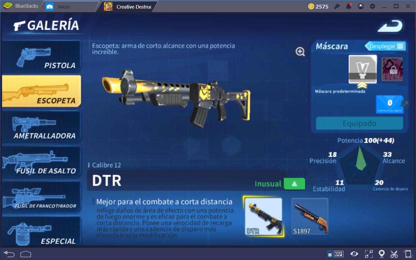 Las Mejores Armas Para Cada Ocasión en Creative Destruction