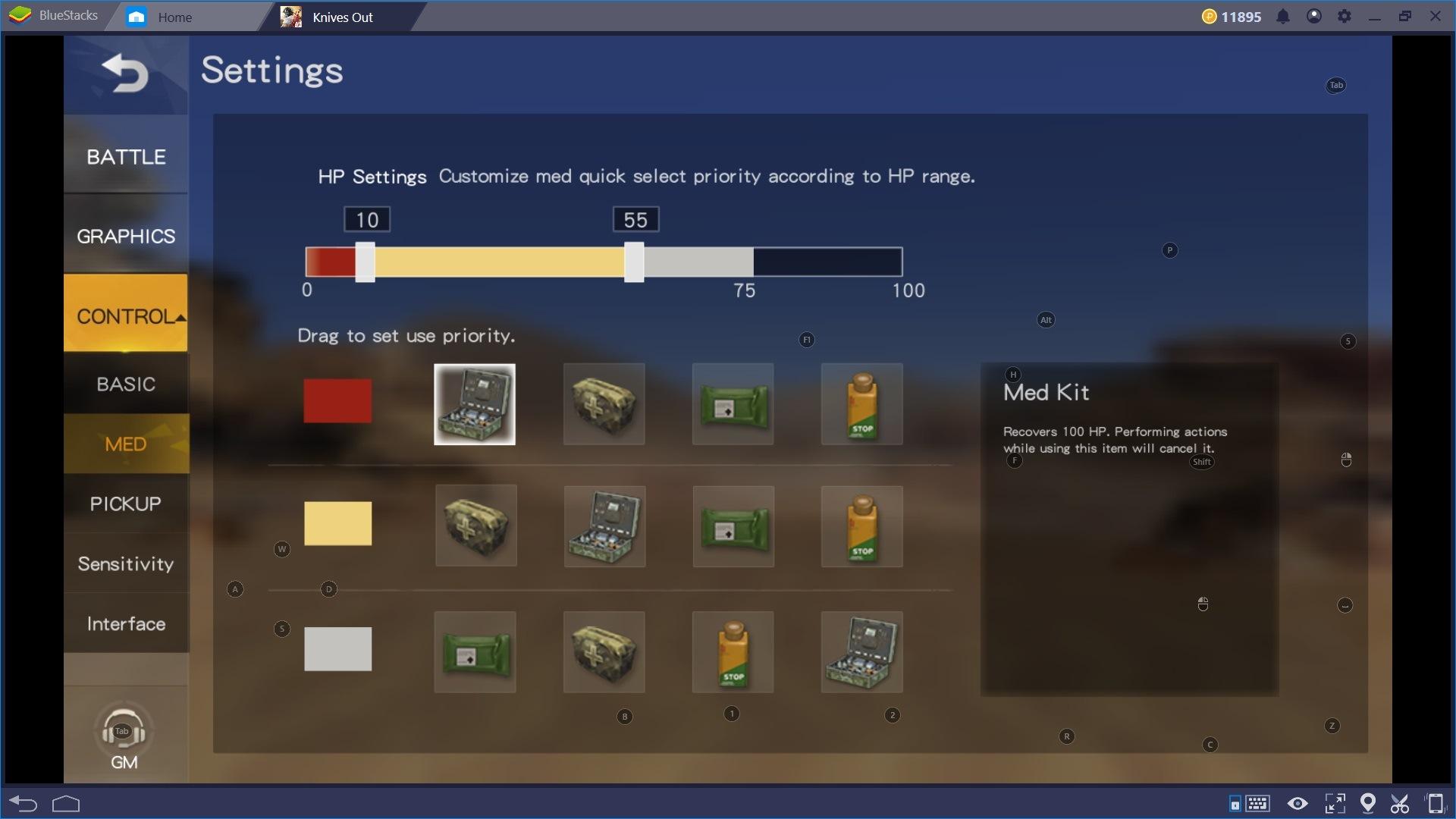 Knives Out: Controlli di Gioco e Impostazioni per Bluestacks 4