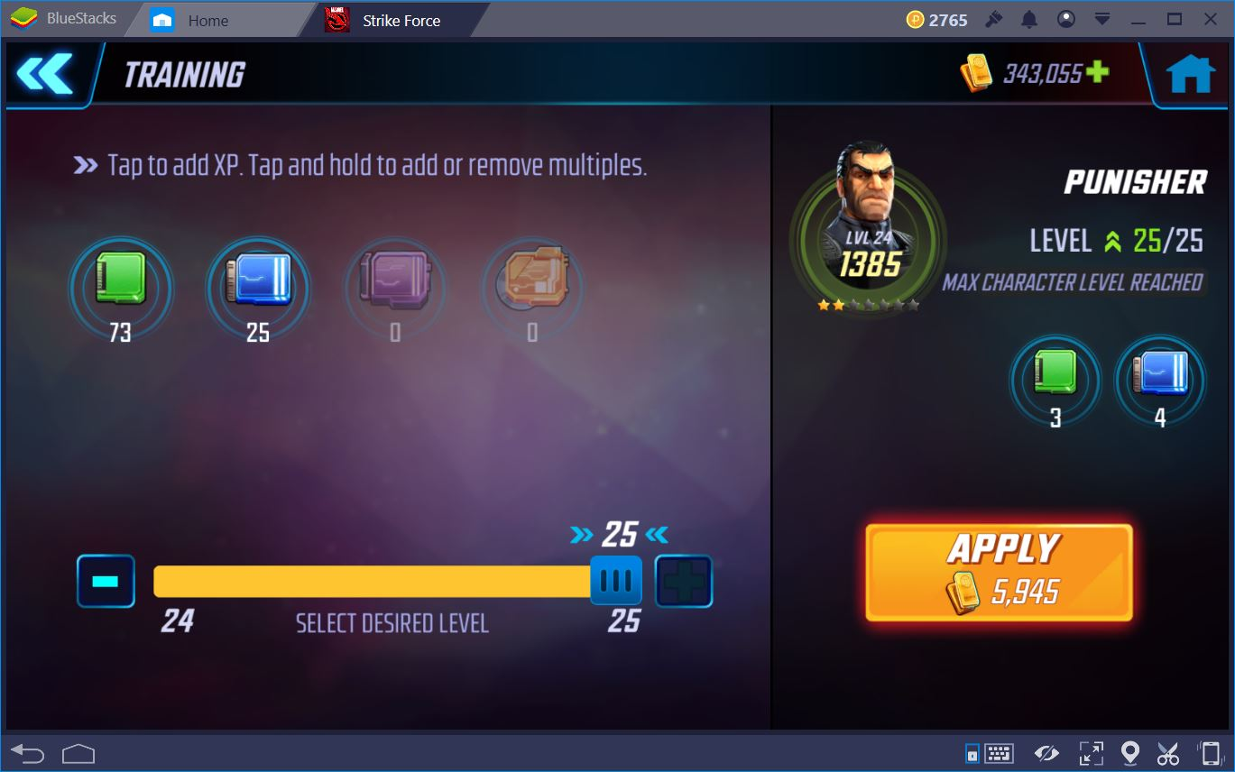 MARVEL Strike Force: Guida al Level Up