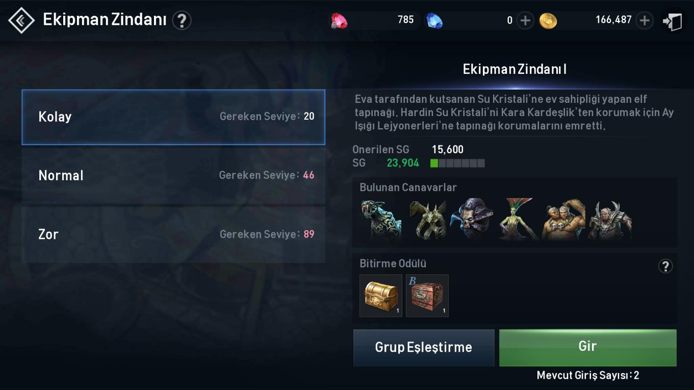 Lineage 2 Equipment Dungeon Tr