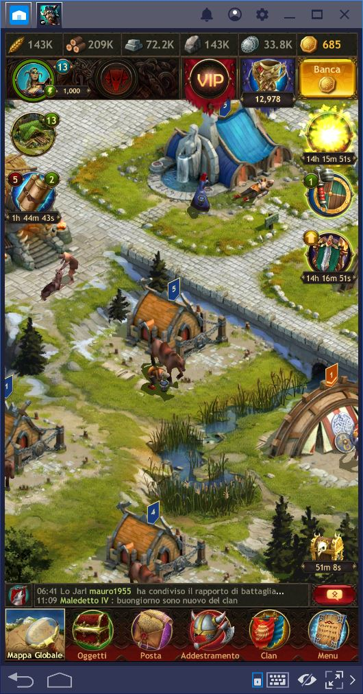 Vikings War of Clans: Truppe e Combattimento