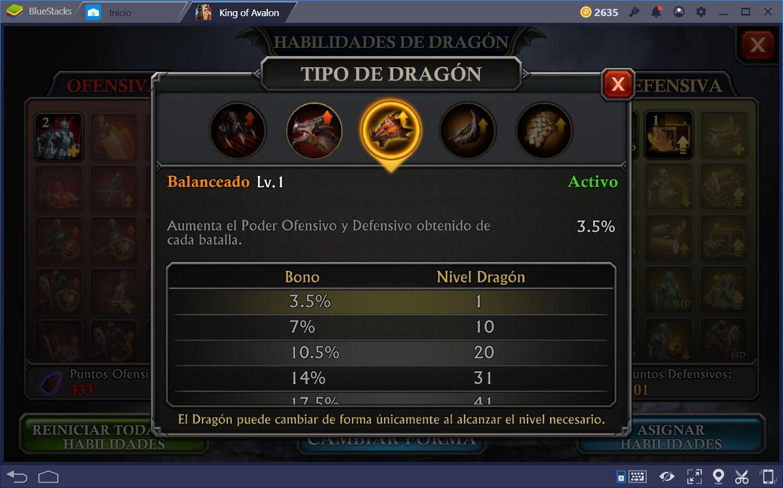 Guía para el Dragón en King of Avalon