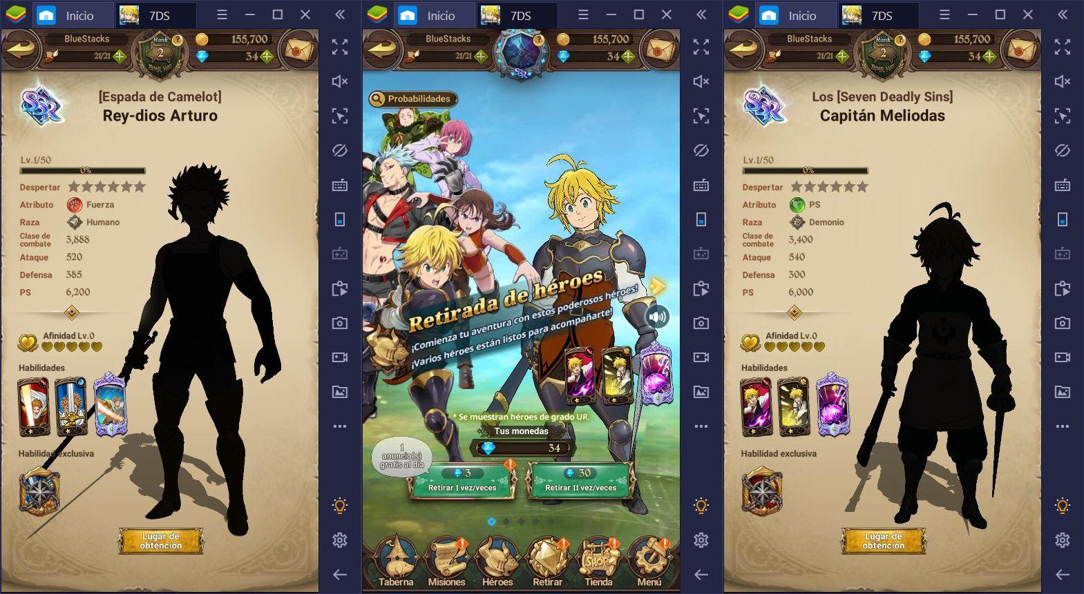 Tier List para The Seven Deadly Sins: Grand Cross – Los Mejores Personajes de la Versión Global