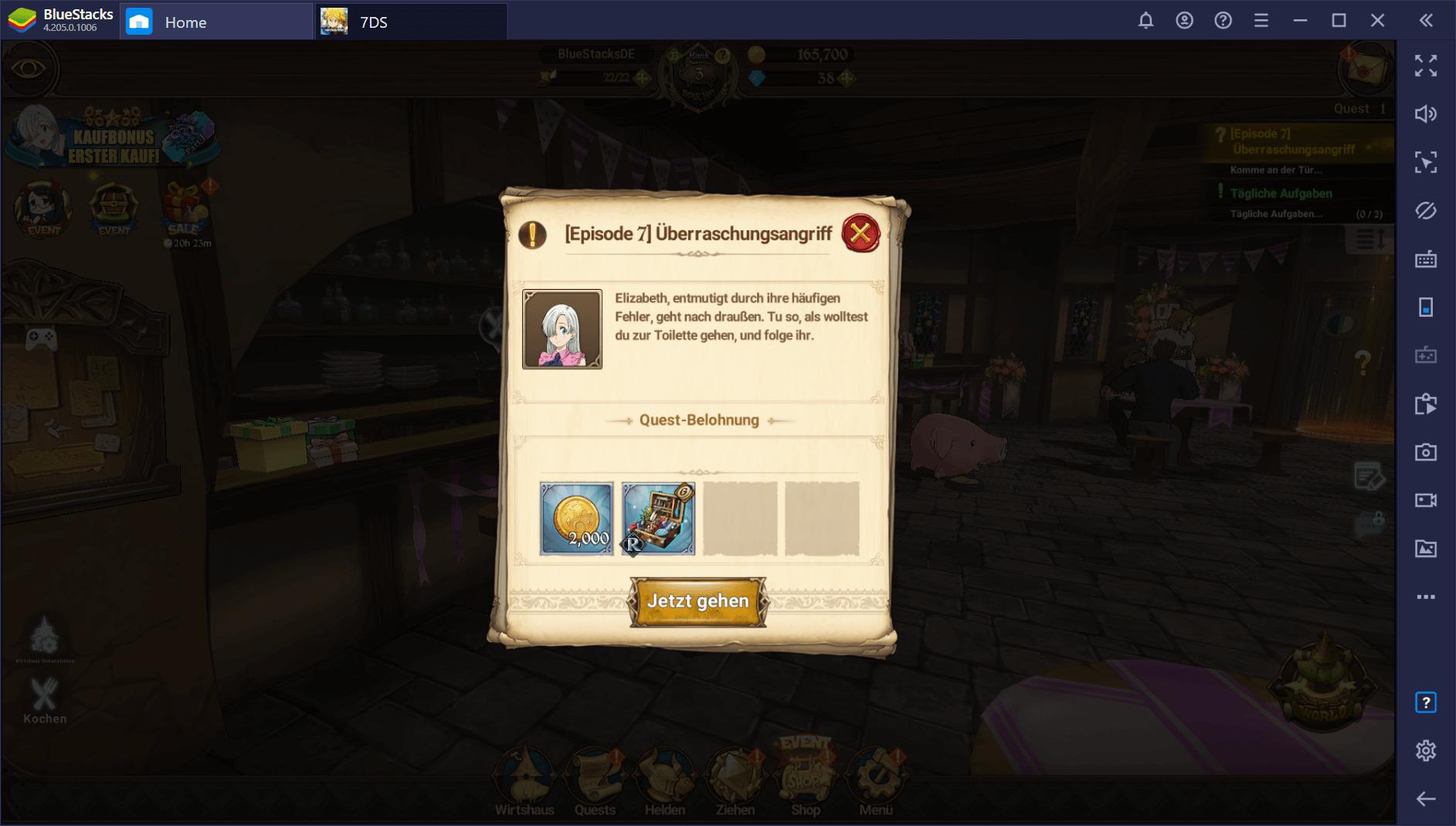 Erste Schritte in The Seven Deadly Sins: Grand Cross auf dem PC