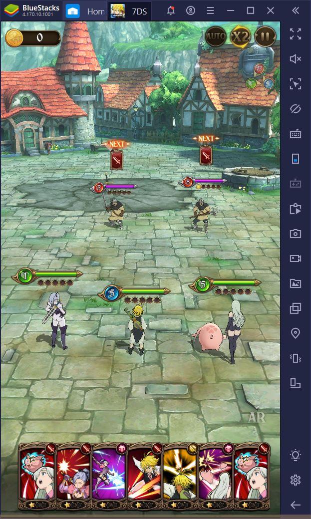 The Seven Deadly Sins: Grand Cross auf dem PC – Detaillierte Anleitung zum Kampf
