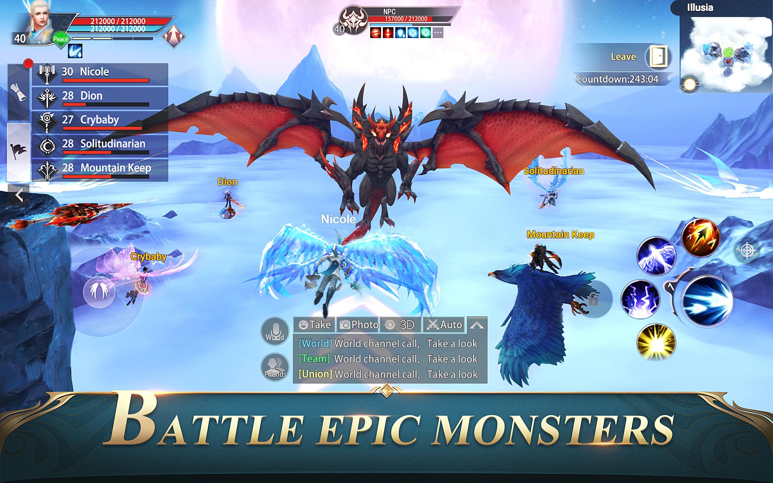 Hasil gambar untuk gambar game perfect world mobile