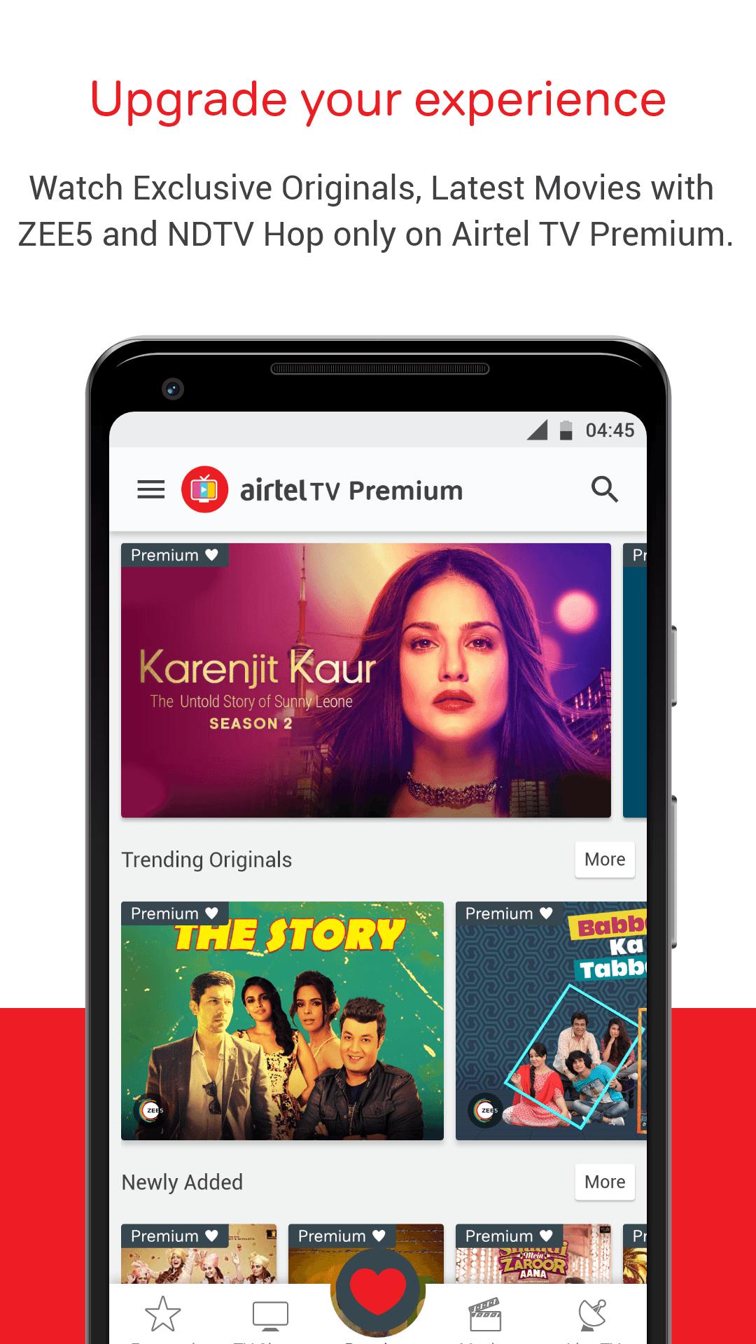 Download Airtel TV: Movies, TV series, Live Aus vs India on
