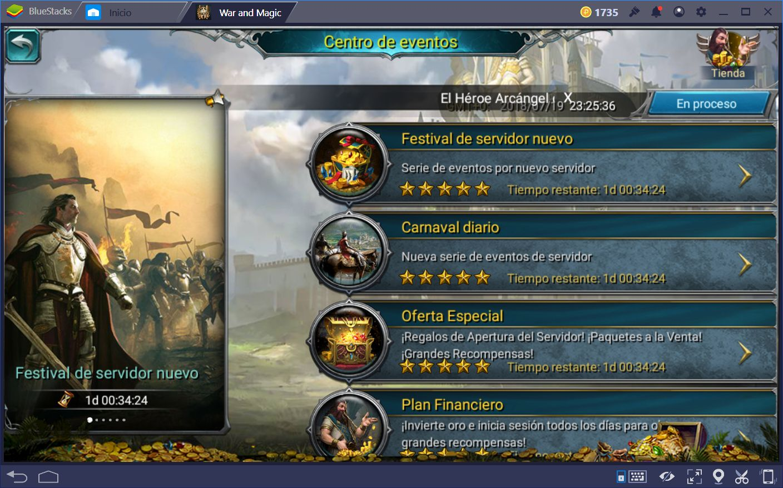Guía Para el Festival de Servidor Nuevo en War and Magic