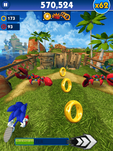 Играй Sonic Dash on pc 9