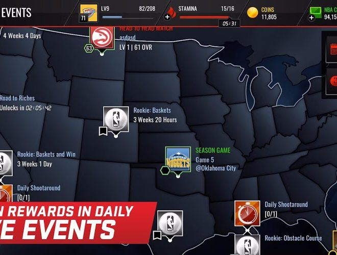เล่น NBA LIVE Mobile on PC 4