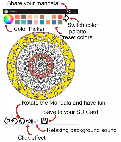 Play Mandala Coloring Pages on pc 3
