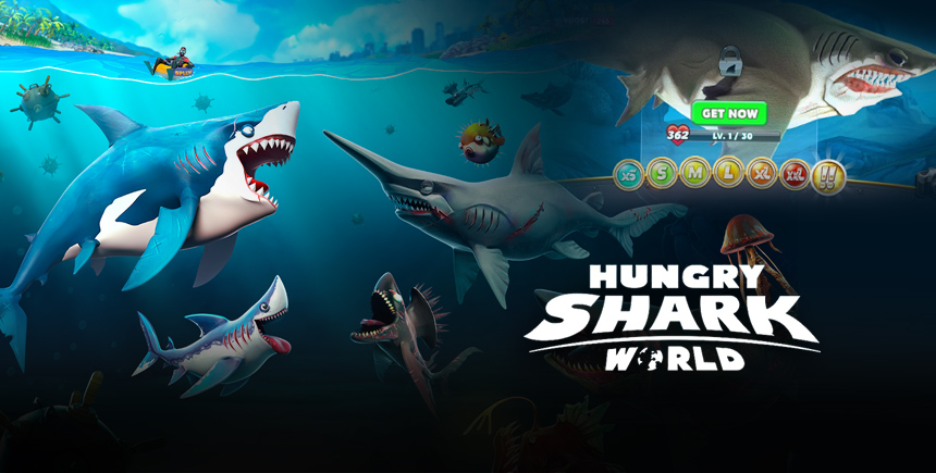 Hungry Shark World – A Guide on the Different Sharks and Size Categories