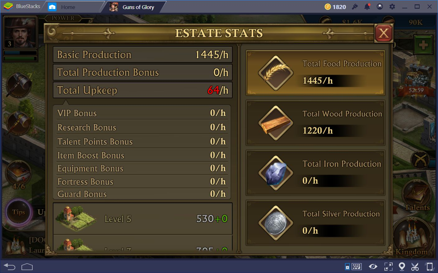 Guns of Glory on PC: How to Create an Efficient Estate in – Part 1