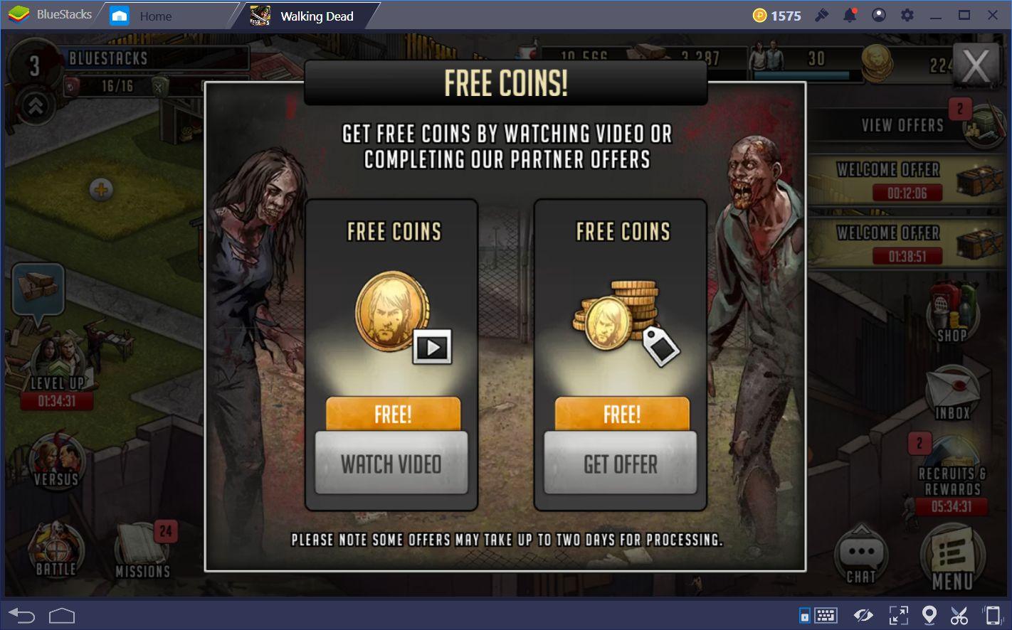 Fortschritte machen in The Walking Dead: Road to Survival