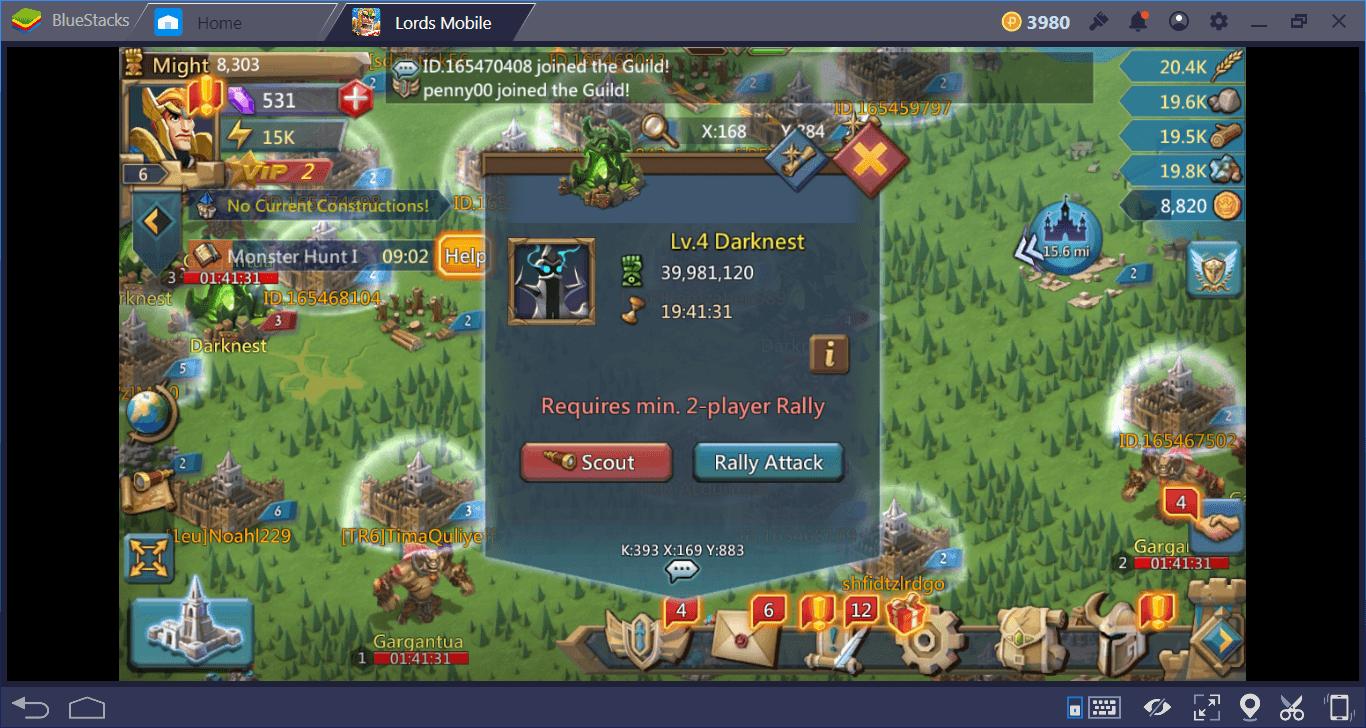 Lords Mobile mit BlueStacks ganz einfach zu einem besseren Spielerlebnis machen