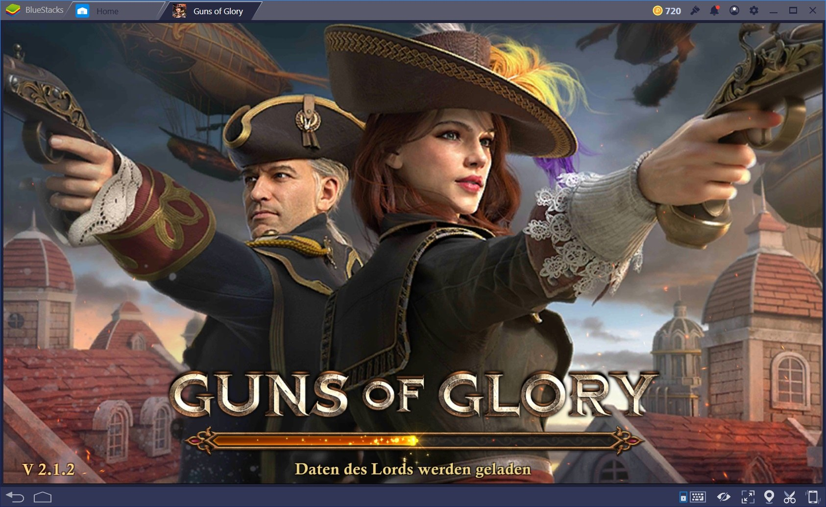 Boosts durch das Wächtergebäude in Guns of Glory