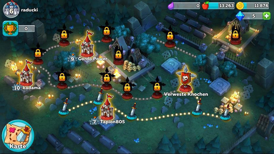 Fortschritte machen in Hustle Castle: Fantasy Schloss