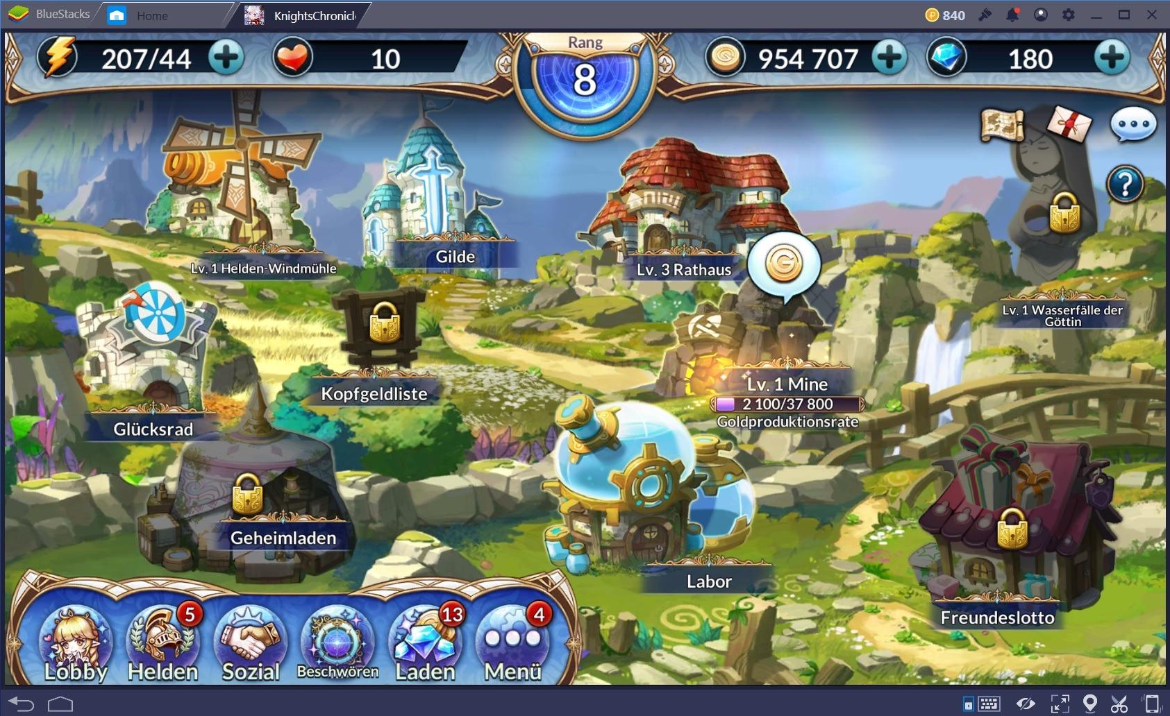 Knights Chronicle-  Guide zu Beschwörungen und Gebäuden