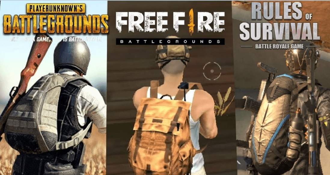 Battle Royale vs. Battle Royale: Free Fire, PUBG, and ROS