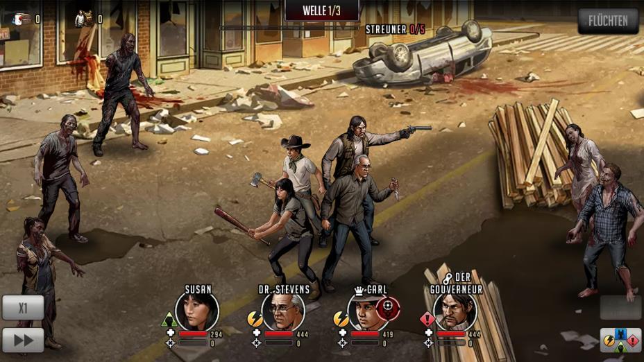 The Walking Dead: Road To Survival Forschungs- und Kampfführer