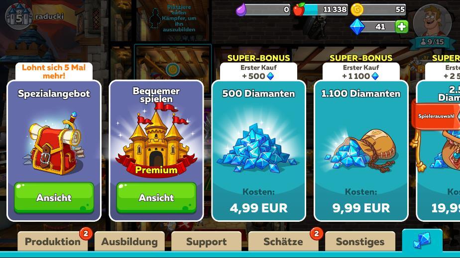 Anleitung für Bewohner in Hustle Castle: Fantasy Schloss