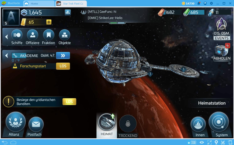 Star Trek Fleet Command Ressourcen- und Gebäude- Guide