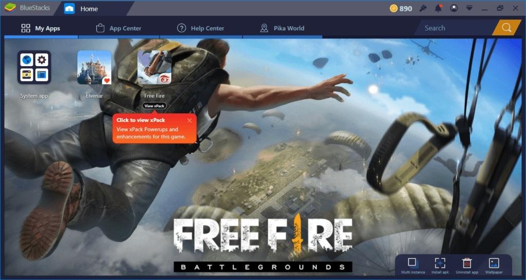 Free Fire mit Maus und Tastatur spielen