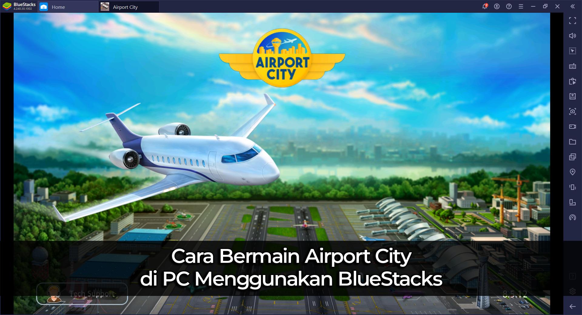 Cara Bermain Airport City di PC dengan BlueStacks