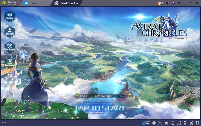 Astral Chronicles: BlueStacks Oyun İncelemesi Sizlerle