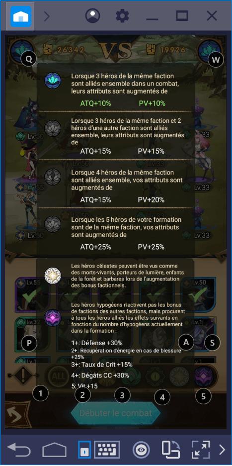 Les Forces des personnages : Guide sur les unités dans AFK Arena