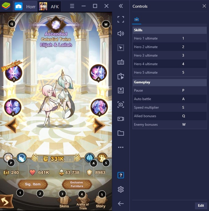 Guide to AFK Arena's Raku and Peggy on BlueStacks