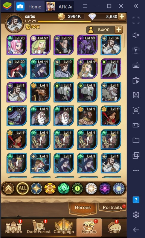 AFK Arena on PC – Signature Items Guide and Tier List