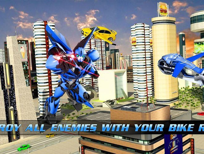 Play Flying Bike – Transformer Robot on PC 5