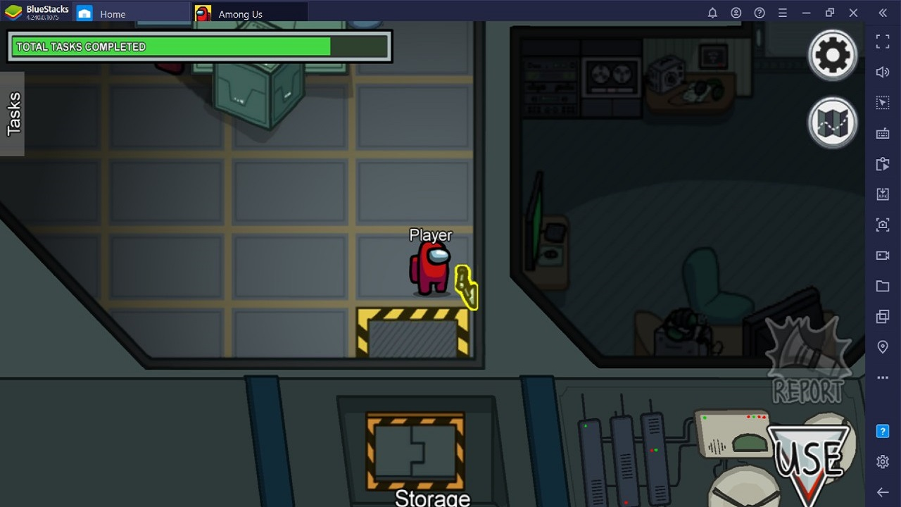 Frighten the Impostors by Playing Minds Games as a Crewmate in Among Us