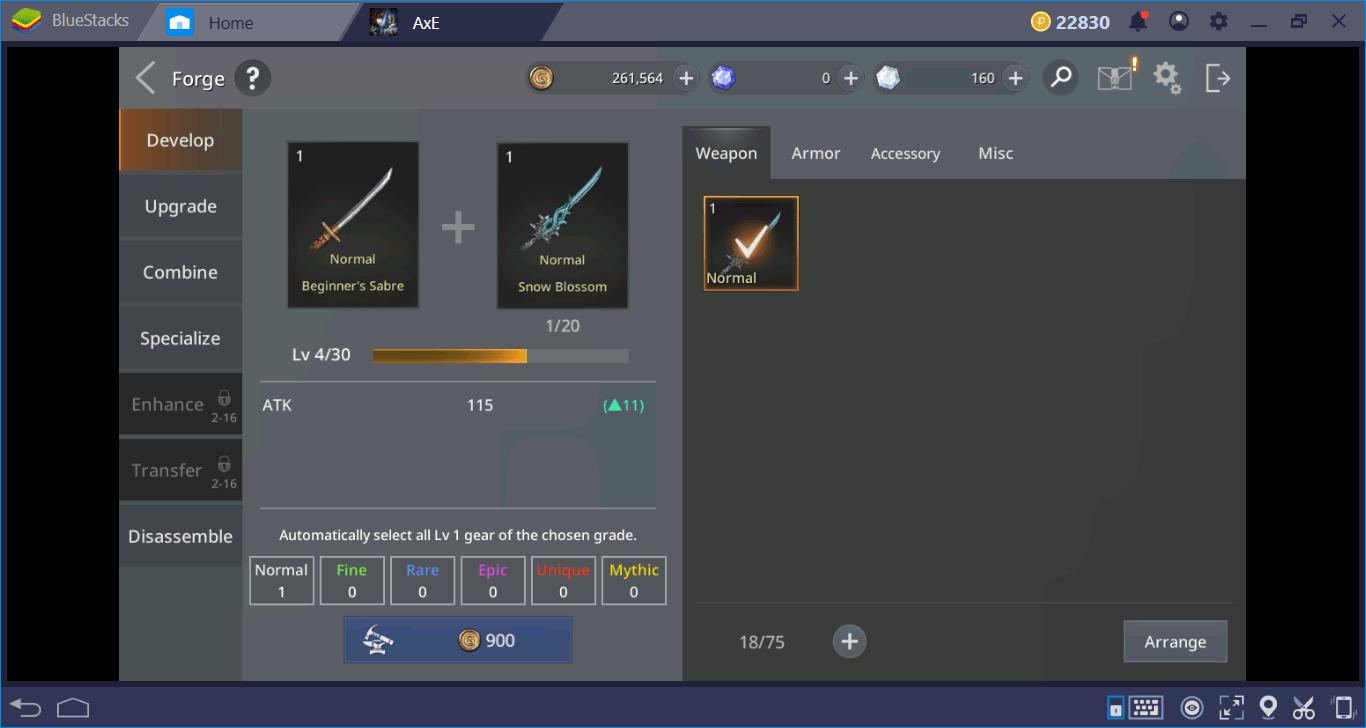 AxE: Alliance Vs Empire Equipment Guide