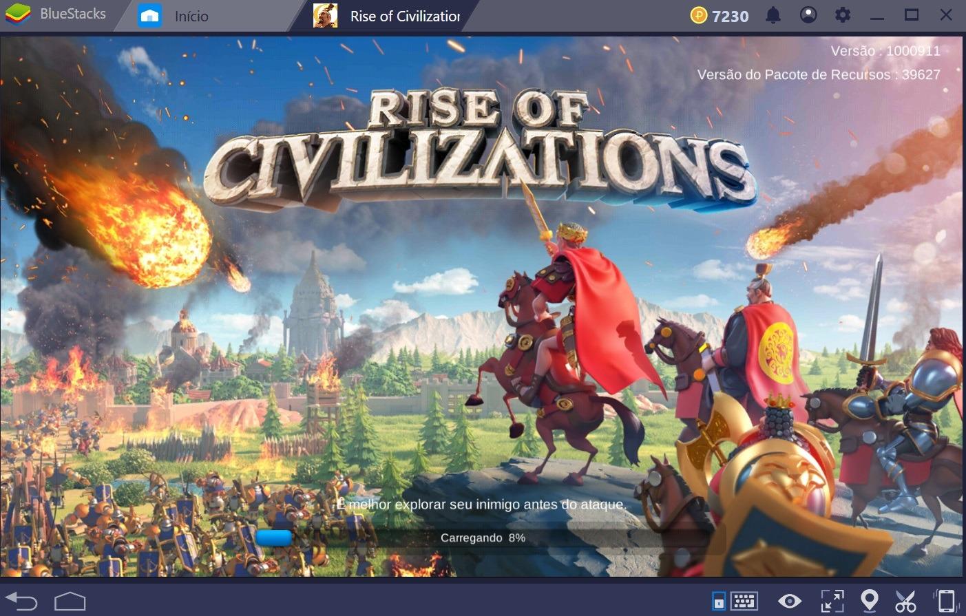 Tudo o que você precisa saber para começar a sua aventura em Rise of Kingdoms