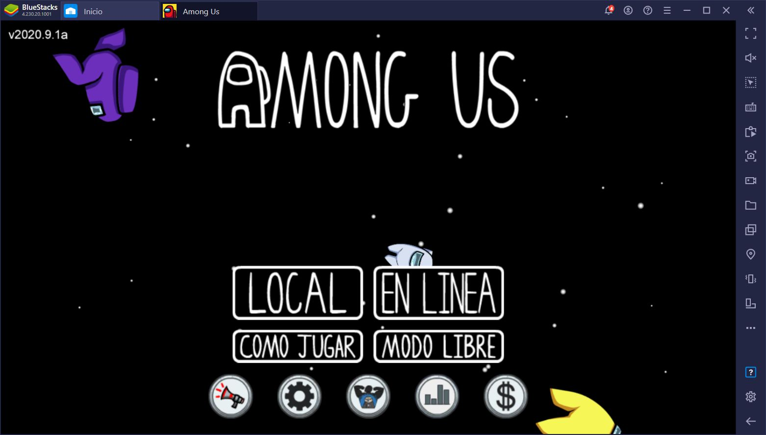 Juega Among Us en PC Usando Controles Exclusivamente con BlueStacks