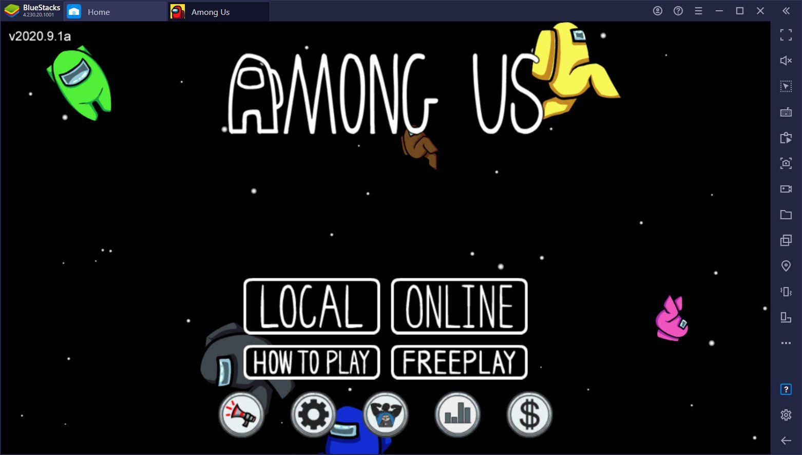 Jouez à Among US sur PC avec une manette seulement sur BlueStacks
