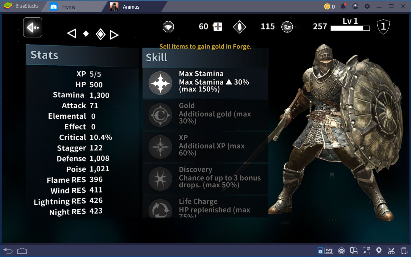 Animus: Guide to Farming and Stats