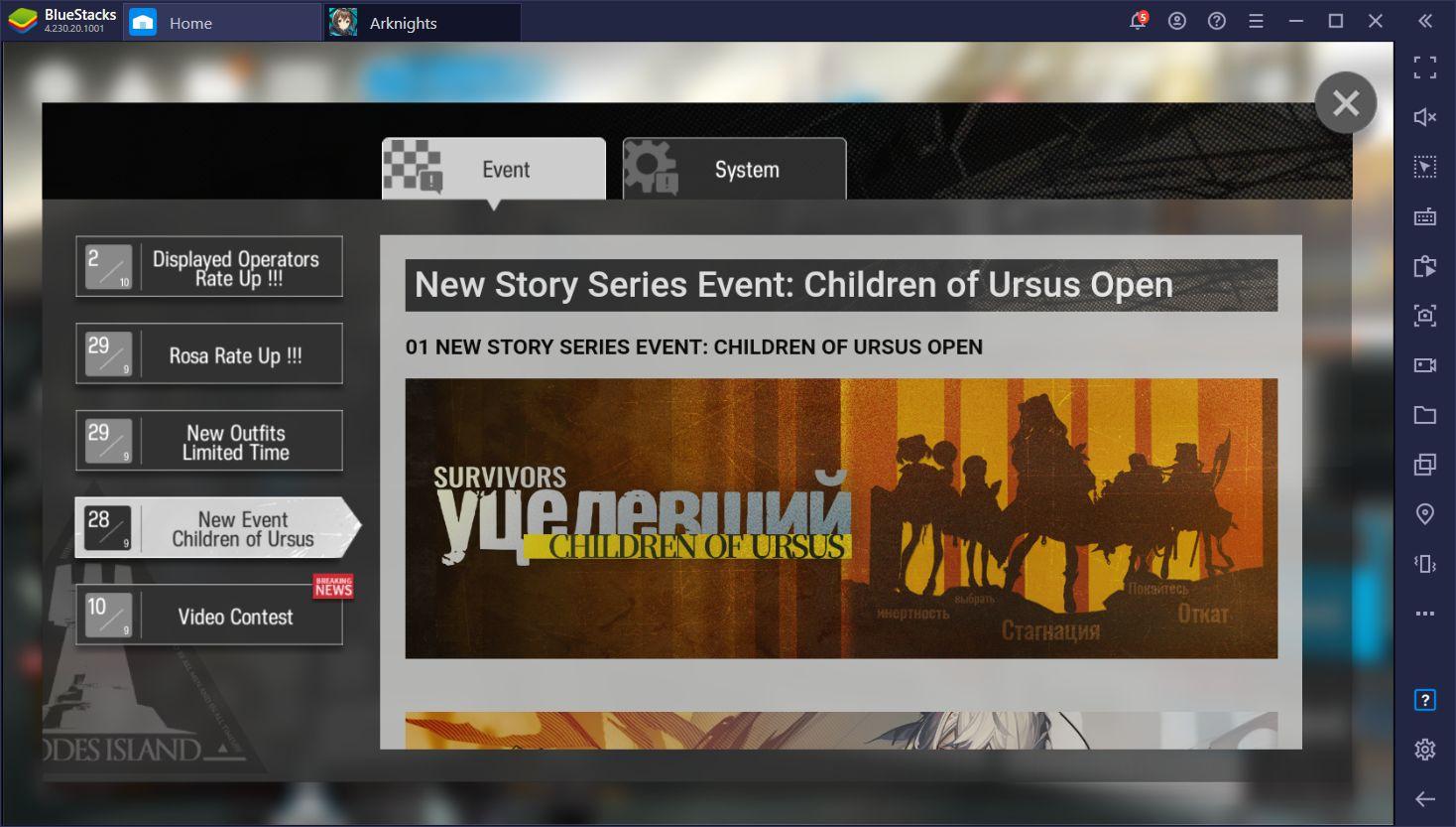 Actualización 'Children of Ursus' de Arknights – Nuevos Personajes, Historias, y Más en el Nuevo Parche
