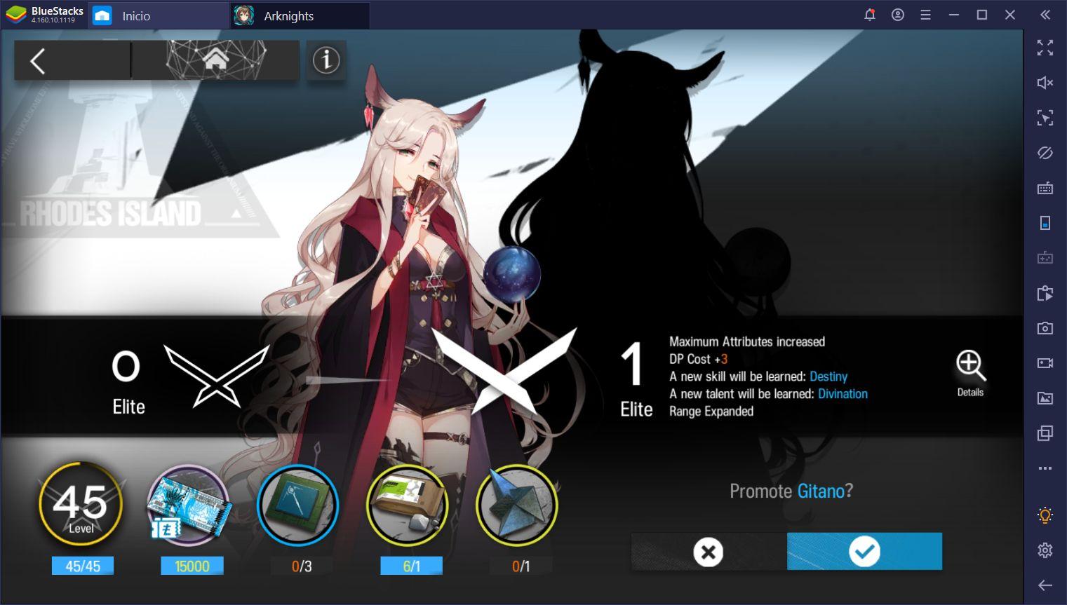 Arknights en PC - Cómo Mejorar a tus Personajes