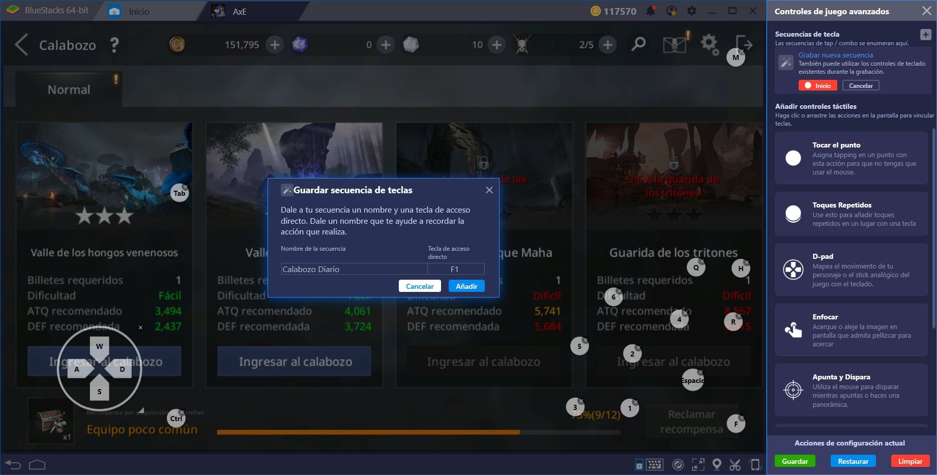 Guía de Configuración de BlueStacks para AxE: Alliance vs Empire