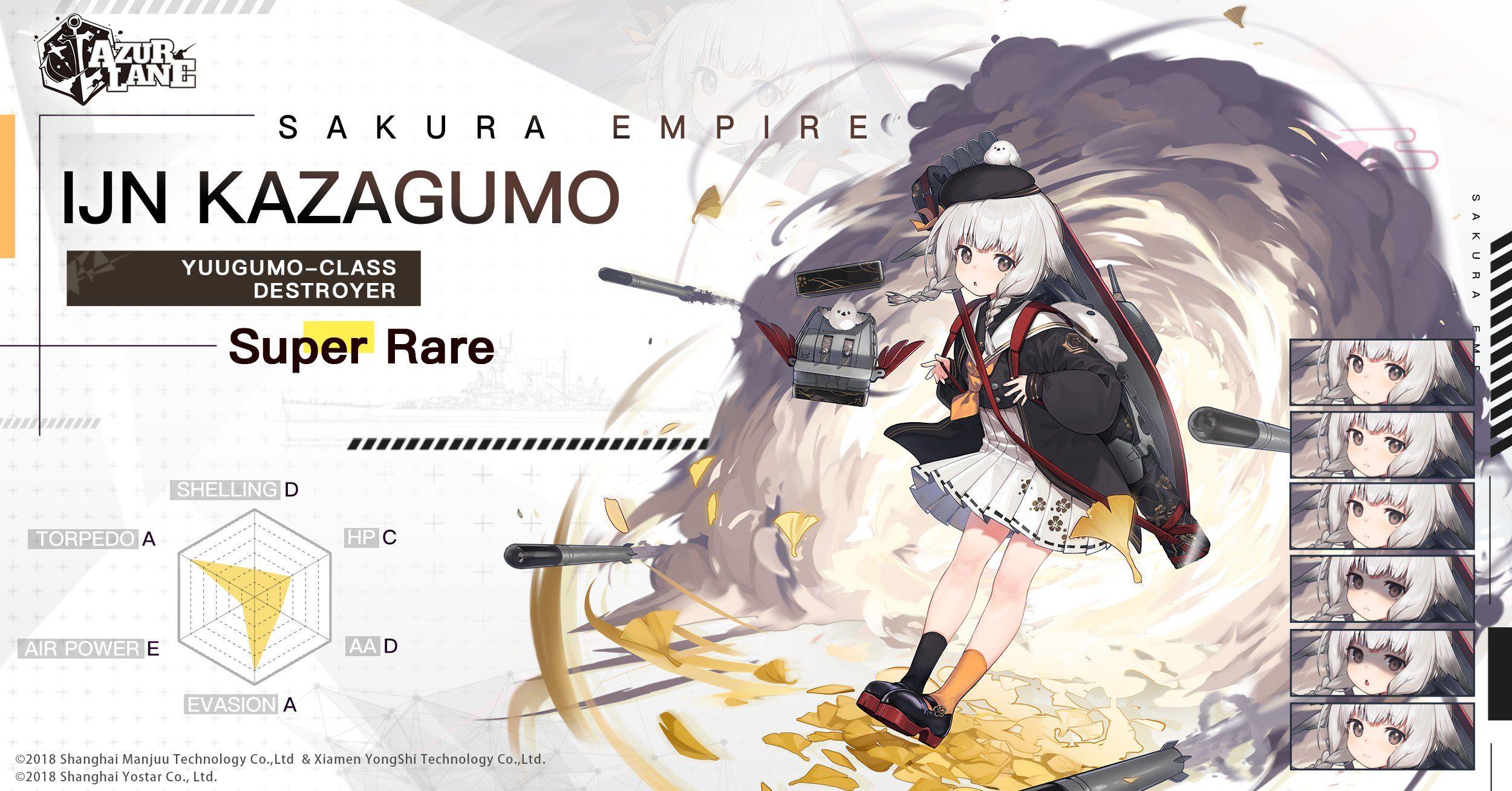 Azur Lane: New Characters Kazagumo and Shirayuki, New Events, Skins, and More