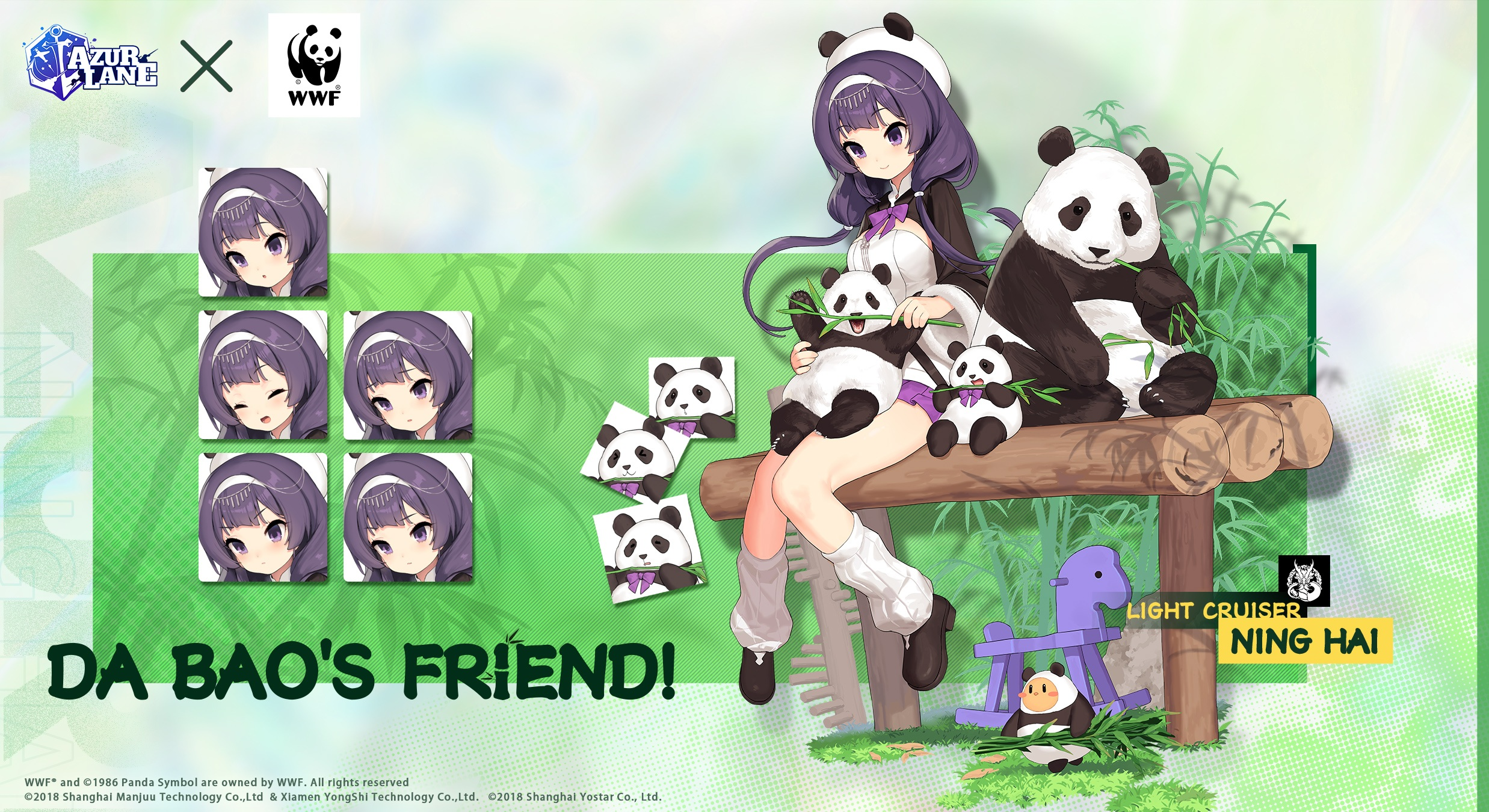 Azur Lane March Update: Here comes the Cutest Companions, Panda Ping Hai and Ning Hai