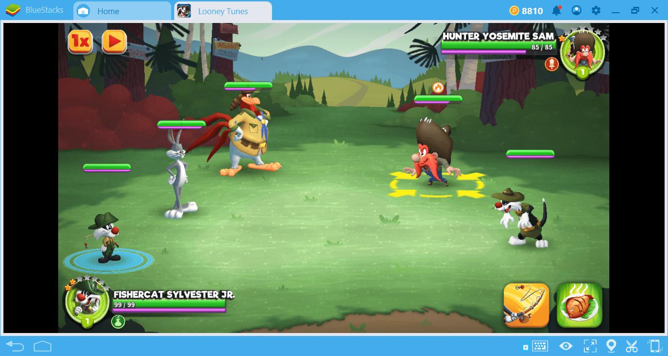 Battle System of Looney Tunes: World of Mayhem